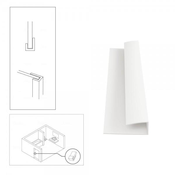 PVC Edging Edge End Trim for Shower Aqua Wall Panel Cladding 5mm/10mm - Multipanel Aquabord Corner Trim White Chrome Silver